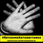 Hände zeigen Stopp zu Antisemintismus